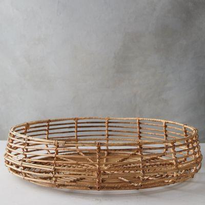 Open Weave Rattan Tray