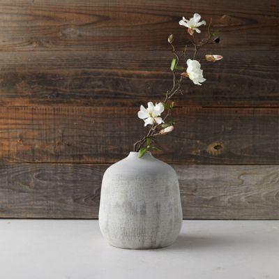 Textured Terracotta Vase
