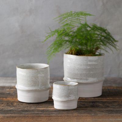 Banded Stoneware Pot