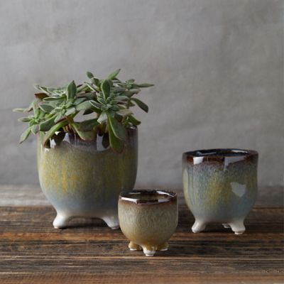 Tri-Foot Stoneware Planter