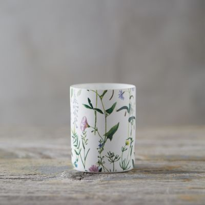Floral Porcelain Votive Holder