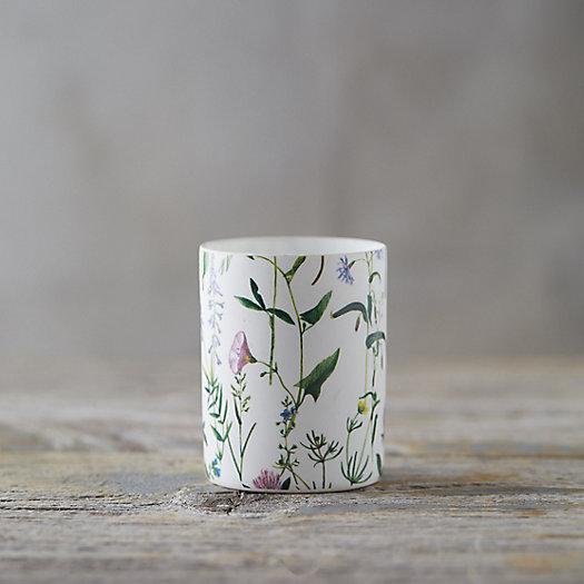 View larger image of Floral Porcelain Votive Holder