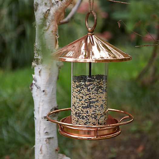 View larger image of Short Solid Copper Bird Feeder