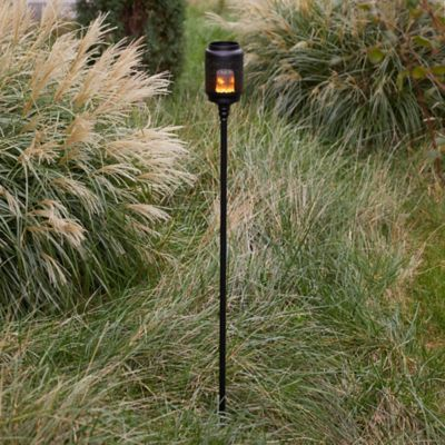 Wildfire Flame Effect LED Torch Stand + Lantern