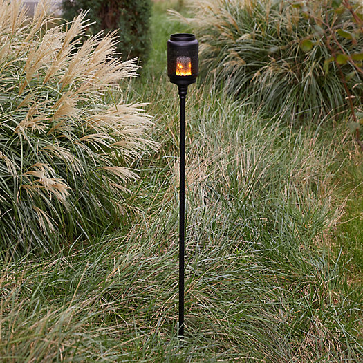 View larger image of Flame Effect LED Torch Stand + Lantern