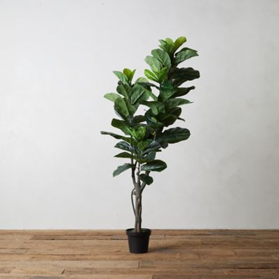 Faux Fiddle Leaf Fig Tree, 5'