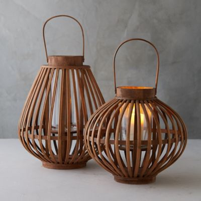 Bamboo + Glass Lantern