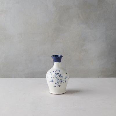 Blue Floral Bud Vase