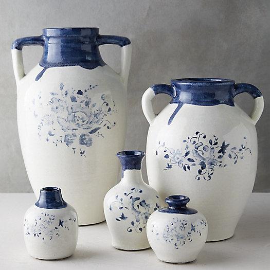 View larger image of Blue Floral Bud Vase