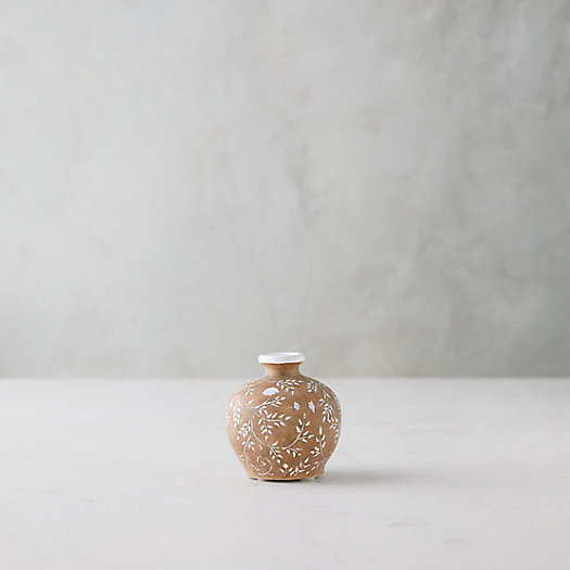 View larger image of White Sprigs Terracotta Vase