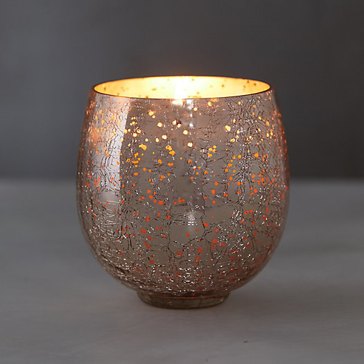 View larger image of Crackle Glass Candle, Mulled Wine