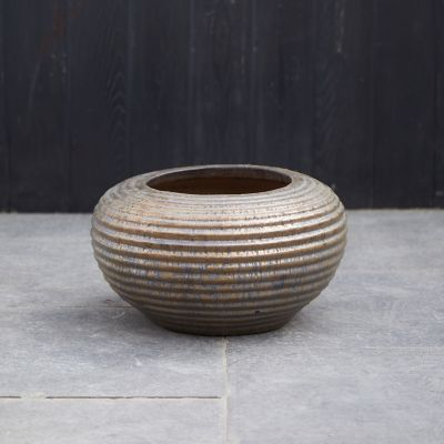 Ridged Earthenware Bowl