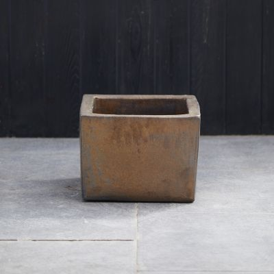 Low Square Earthenware Planter