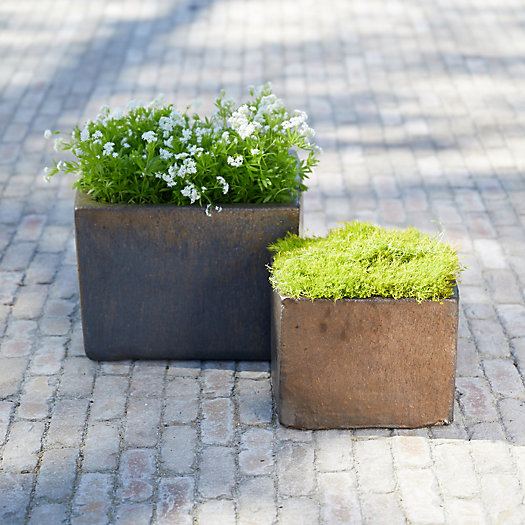 View larger image of Low Square Earthenware Planter