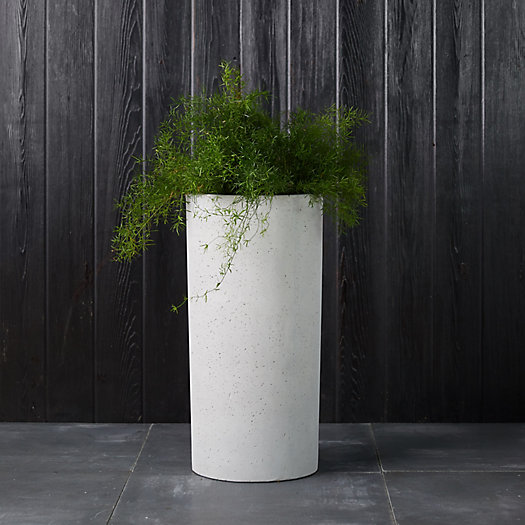 View larger image of Tall Fiber Concrete Cylinder Planter