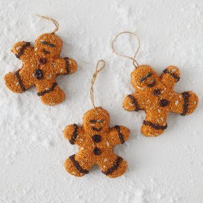Bird Seed Gingerbread Men, Set of 3