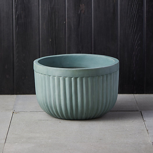View larger image of Fiber Concrete Barrel Bowl