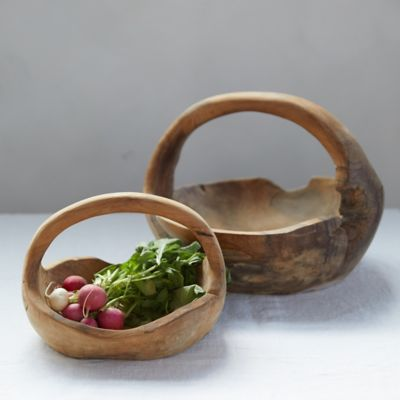 Teak Wood Basket