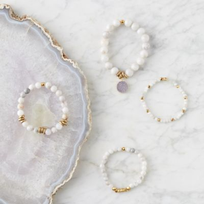 Gray Agate Bracelet