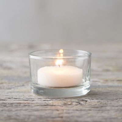 Short Glass Tea Light Holder