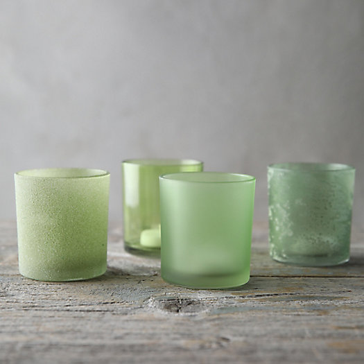 View larger image of Frosted Glass Votive Holder Set