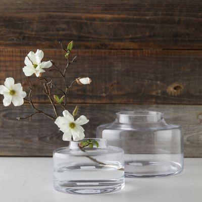 Low Profile Glass Vase
