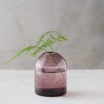 Textured Glass Bud Vase