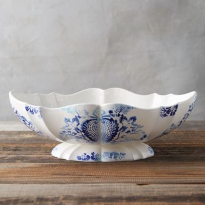 Chinoiserie Footed Bowl, Large