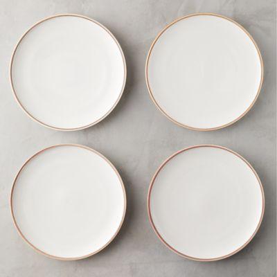 Raw Edge Porcelain Plate Set