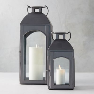 Antiqued Zinc Weather-Proof Lantern