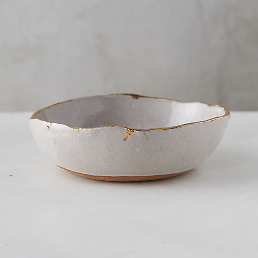 View larger image of Golden Edge Earthenware Bowl, Medium