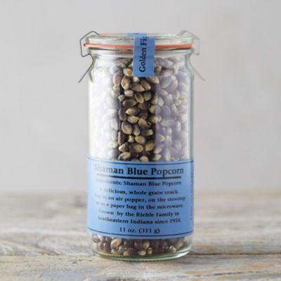 Blue Popcorn Kernels in Weck