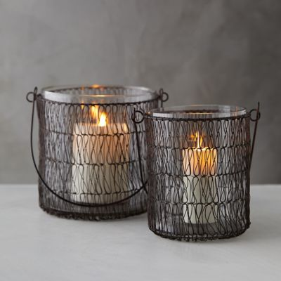 Wire-Wrapped Hanging Votive