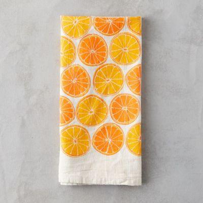 Orange Wheel Tea Towel