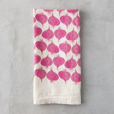 Red Onion Tea Towel