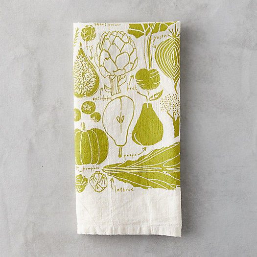 View larger image of Green Veggies Tea Towel