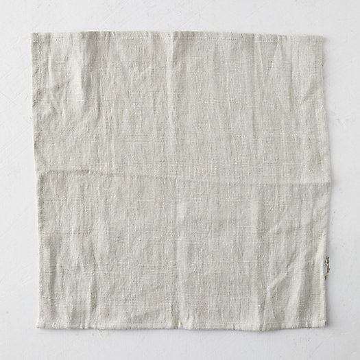 View larger image of Linen Napkin, Light Gray