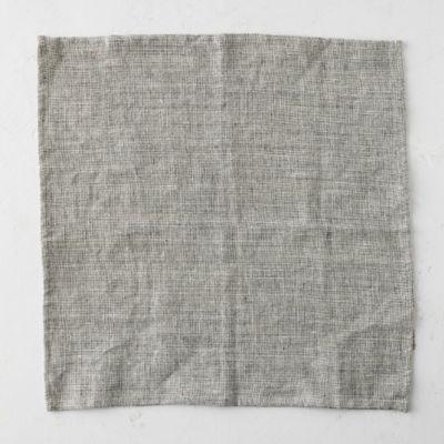 Linen Napkin, Heathered  Black