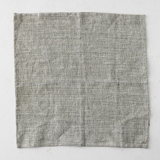 View larger image of Linen Napkin, Heathered  Black