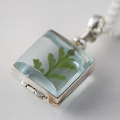 Square Locket + Sterling Silver Necklace
