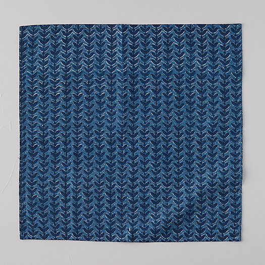 View larger image of Indigo Fan Napkin