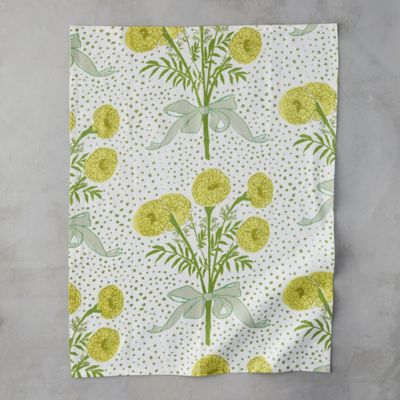 Yellow Bouquet Tea Towel