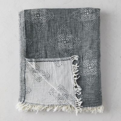 Iris Turkish Cotton Throw