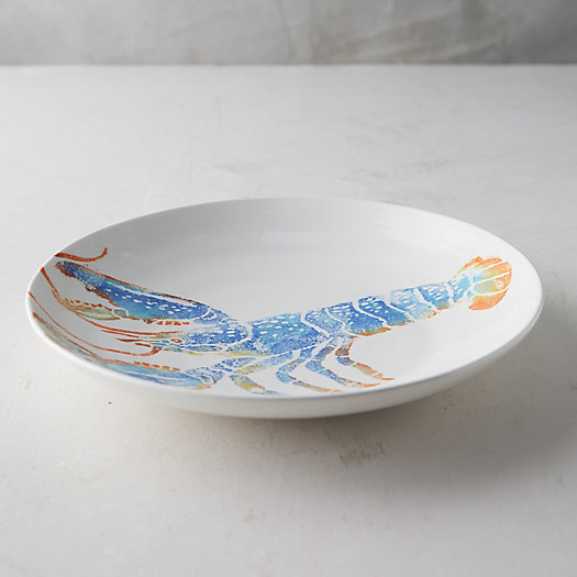 View larger image of Lobster Earthenware Serving Bowl