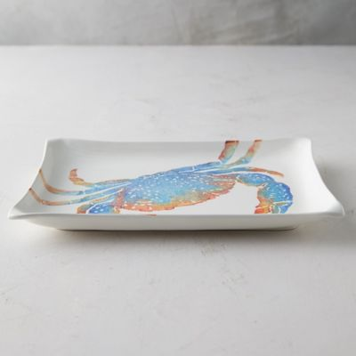 Crab Earthenware Serving Platter