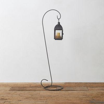 Galvanized Steel Lantern Stand