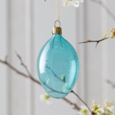 Colorful Glass Egg Ornament