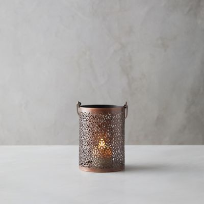 Etched Floral Hanging Votive