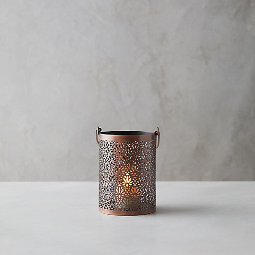 View larger image of Etched Floral Hanging Votive