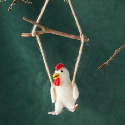 Felt Swinging Chicken